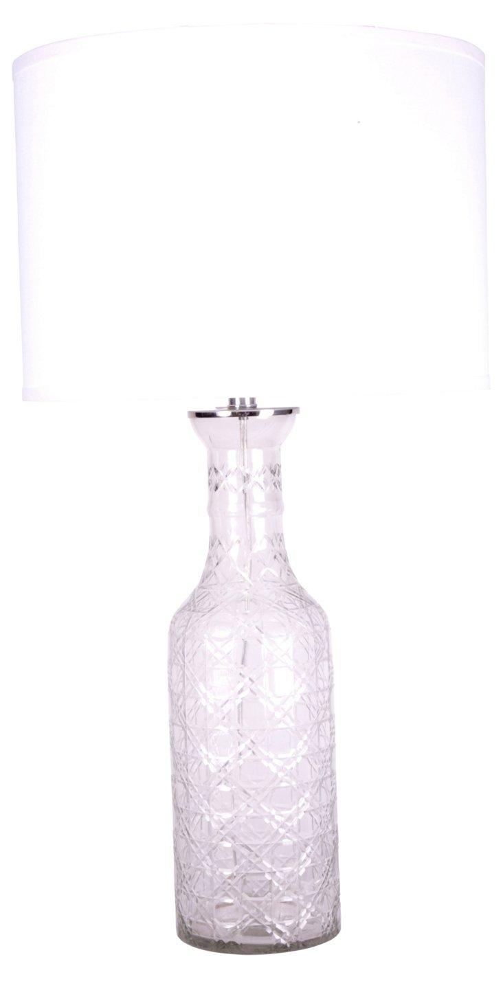 Cut-Glass Bottle Lamp