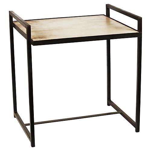Lola Side Table, Cream/Gunmetal