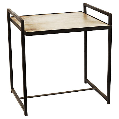 Lola Side Table, Cream/Gunmetal