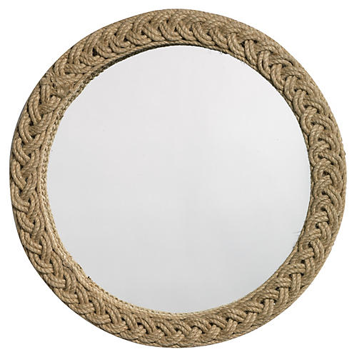 "Braided 20"" Jute Accent Mirror, Natural"