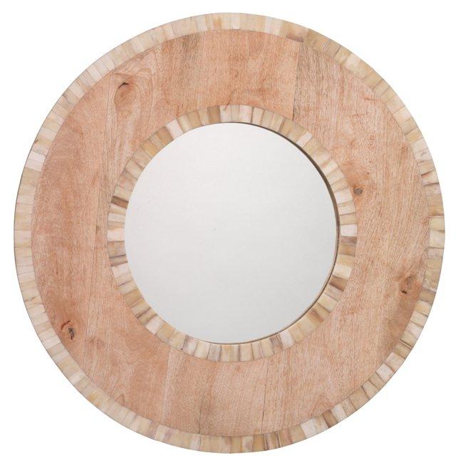 Mandalay Bone Inlay Wall Mirror, Natural