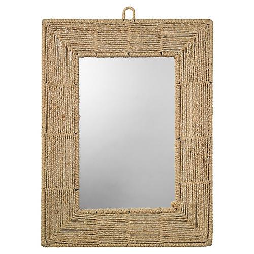 Rectangle Jute Mirror, Natural