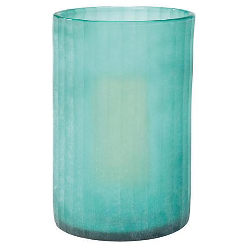 """15"""" Sea-Glass Hurricane, Blue"""
