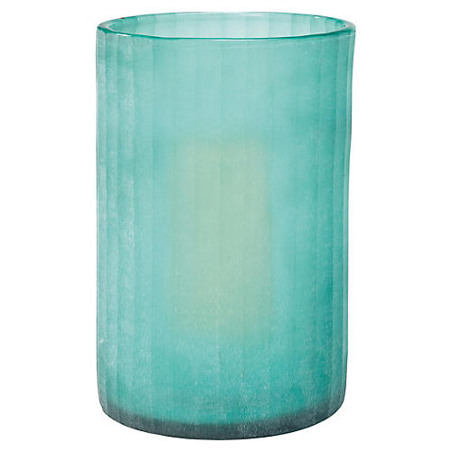 "15"" Sea-Glass Hurricane, Blue"