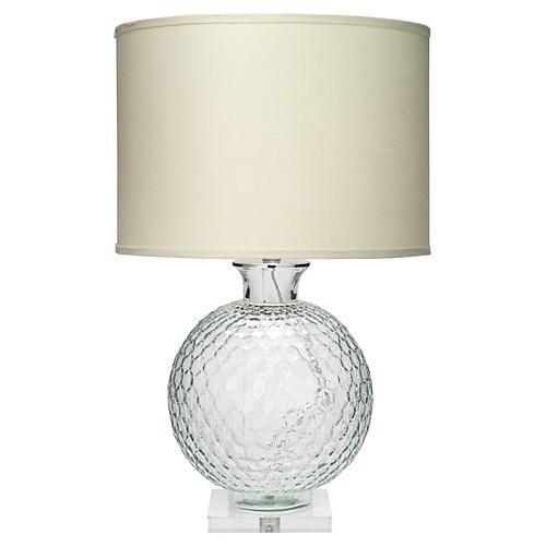 Clark Glass Table Lamp, Clear