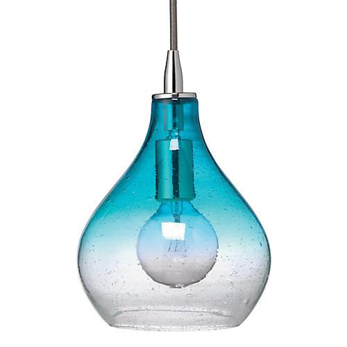 Curve 1-Light Pendant, Aqua