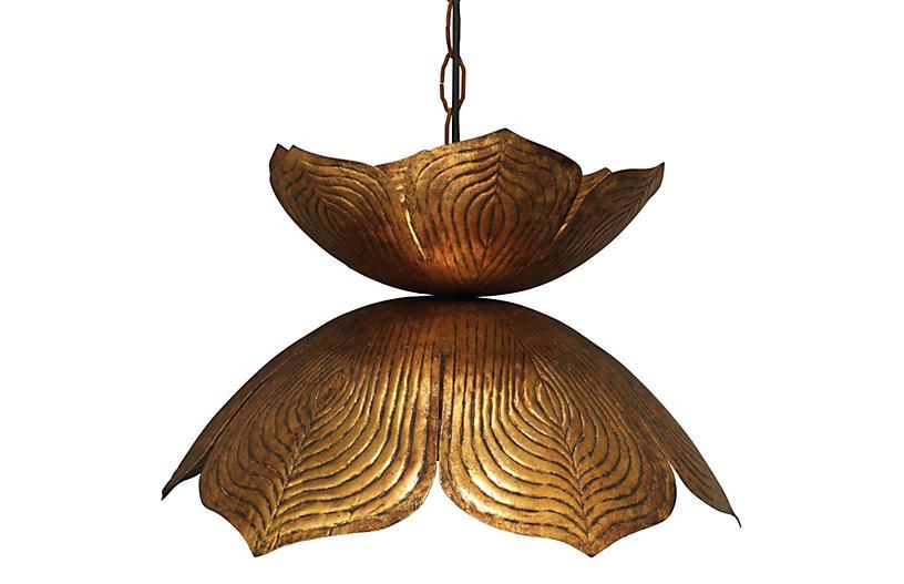 Flowering Lotus Pendant, Large