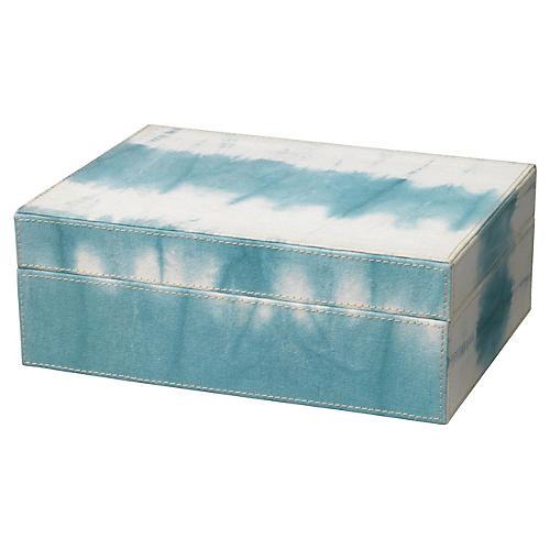 """10"""" Tie Dye Box, Sky Blue"""