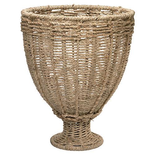 Large Jute Urn, Natural