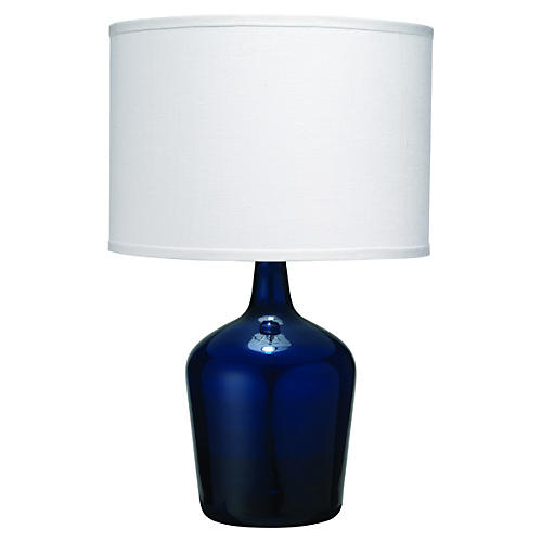 Plum Jar Table Lamp, Navy