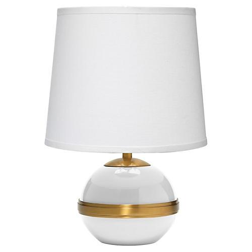 Stockholm Table Lamp, White/Gold