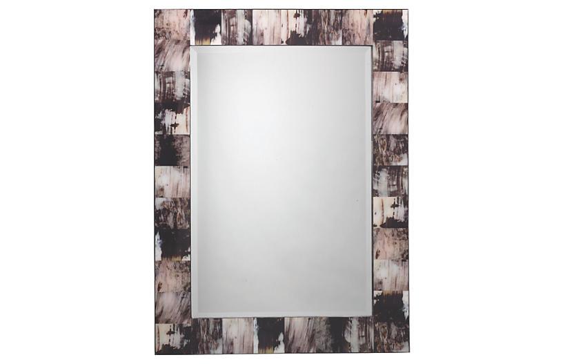 Horn Oversize Mirror, Gray