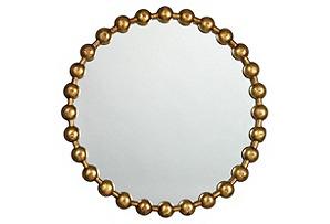 Ball Chain Wall Mirror, Iron