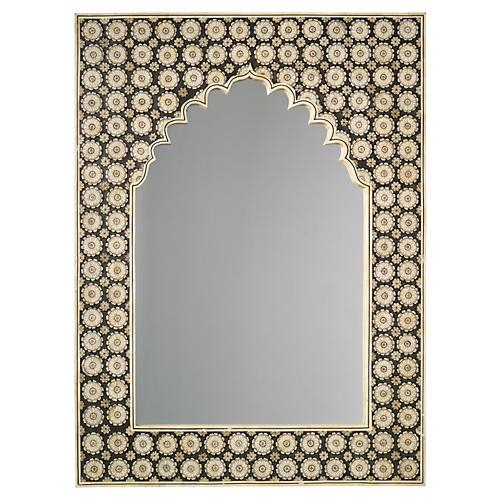 "Taj 36""x48"" Mahal Oversize Mirror, Camel/Black"