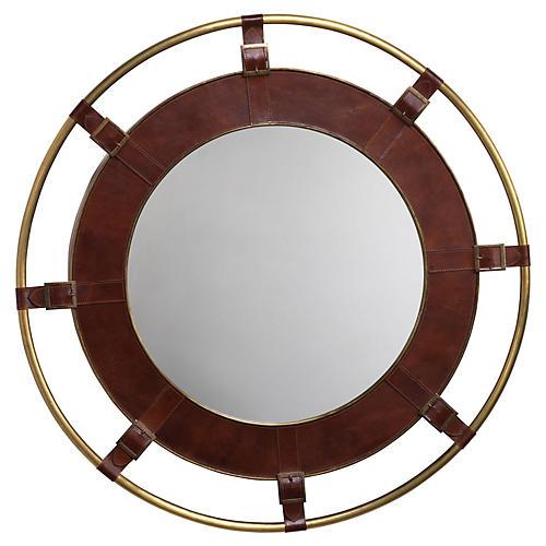 Portsmouth Mirror, Natural/Brass