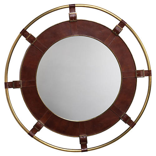 Portsmouth Mirror, Natural/Brass