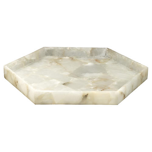 "22"" Antonia Alabaster Tray"