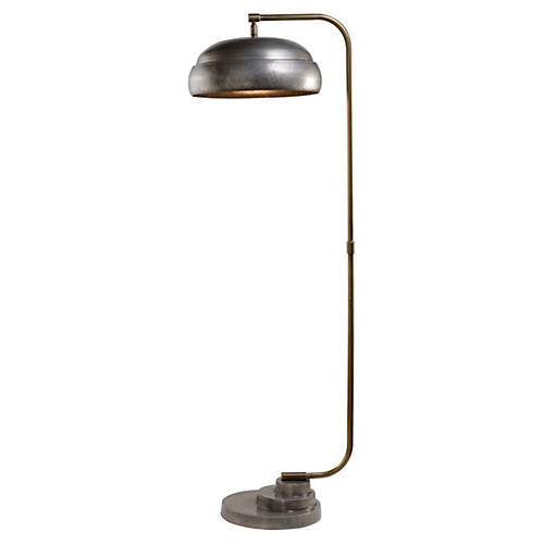 Steampunk Floor Lamp, Gunmetal