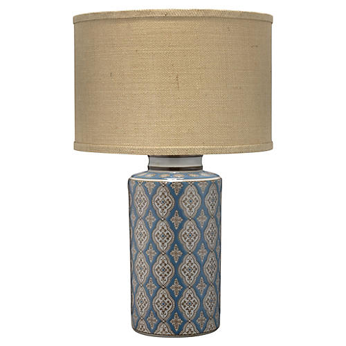 Verona Table Lamp, Blue