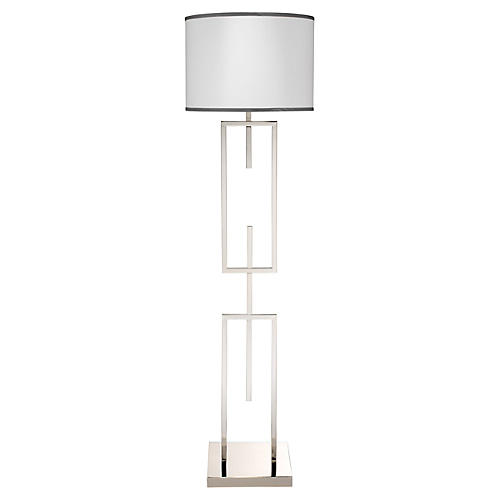 Arma Floor Lamp, Nickel