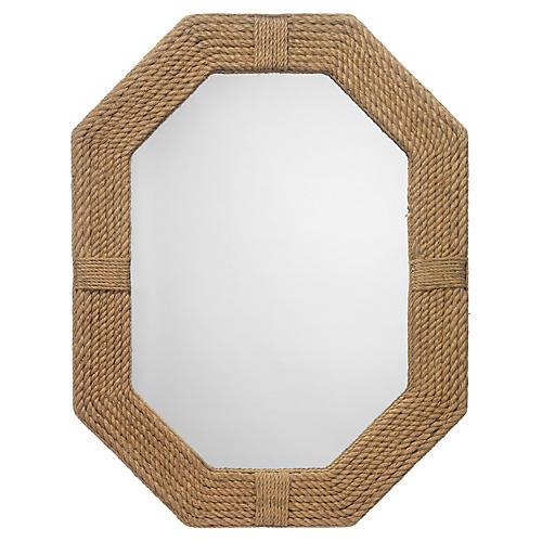 "Lanyard 36""x46"" Wall Mirror, Beige"