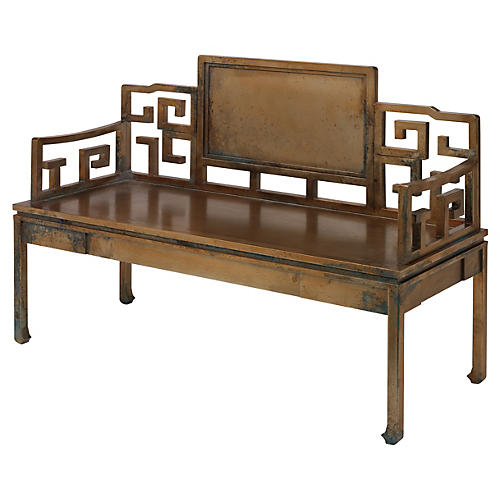 "Dream 51"" Settee, Antiqued Bronze"