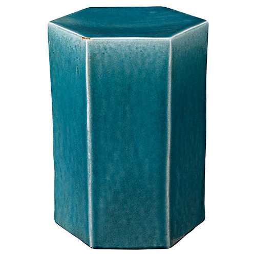 Large Porto Side Table, Blue