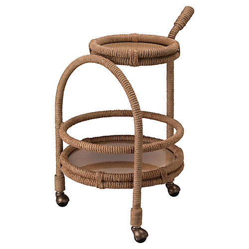 Palm Bay Bar Cart, Wheat