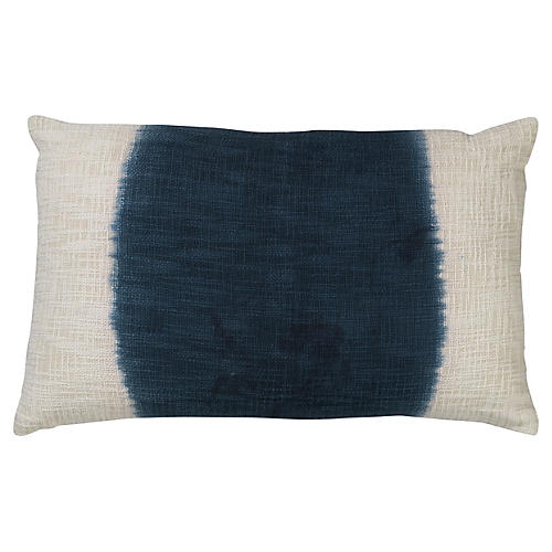 Marcus 16x26 Cotton Pillow, Blue