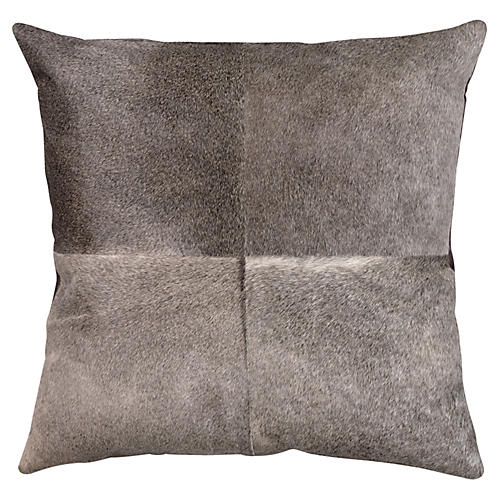 Hide 24x24 Pillow, Gray