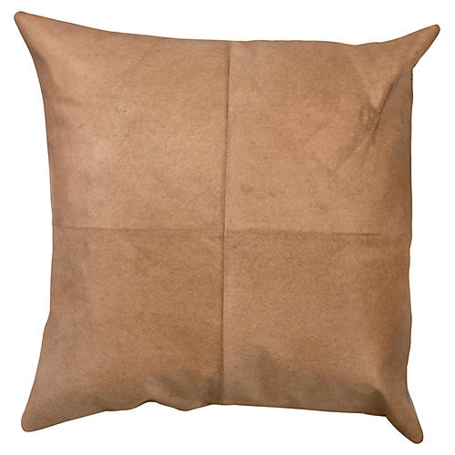 Hide 24x24 Pillow, Buff