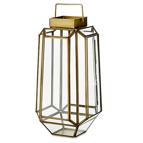"14"" Faceted Prism Lantern"