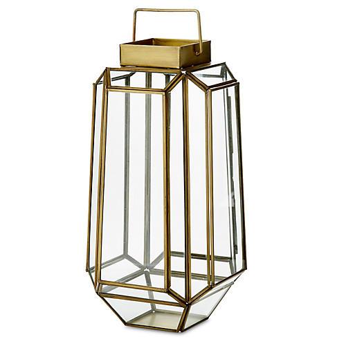 "14"" Faceted Prism Lantern"
