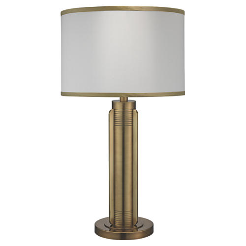Belvedere Table Lamp, Antiqued Brass
