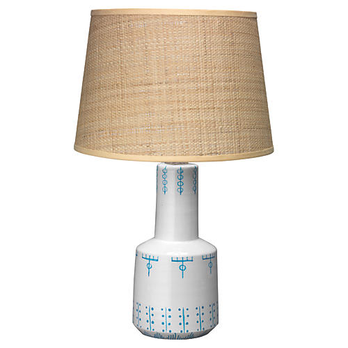 Berber Table Lamp, White