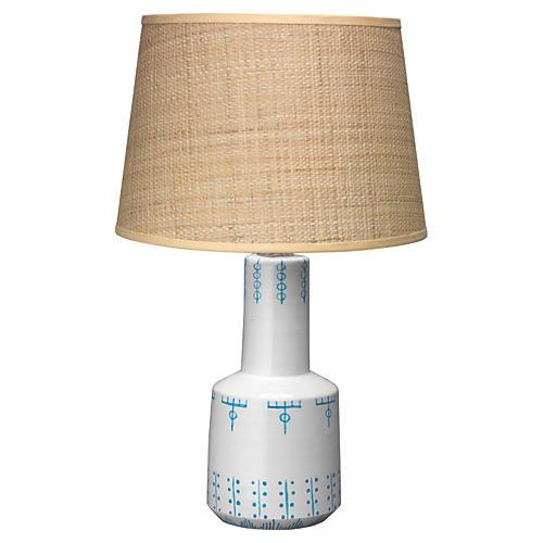 Berber Table Lamp, White