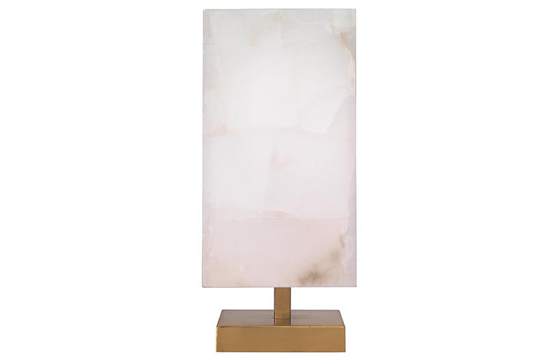 Ghost Axis Table Lamp, Alabaster