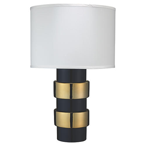 Nash Table Lamp, Gold/Navy