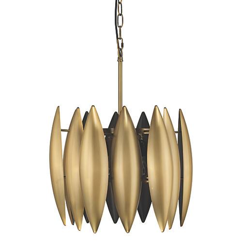 Large Ace Pendant, Brass
