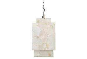Borealis Cube Pendant, Alabaster*