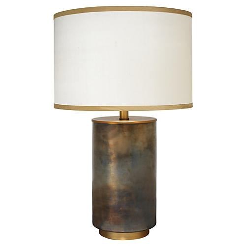 Vapor glass table lamp copper jamie young