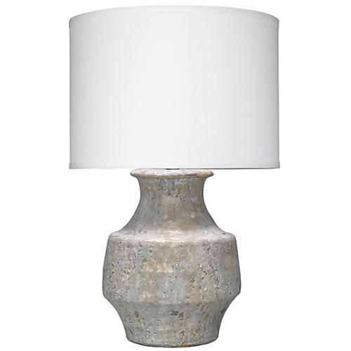 Masonry Table Lamp, Gray/White