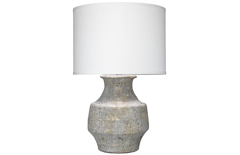 Masonry Table Lamp, Gray/White