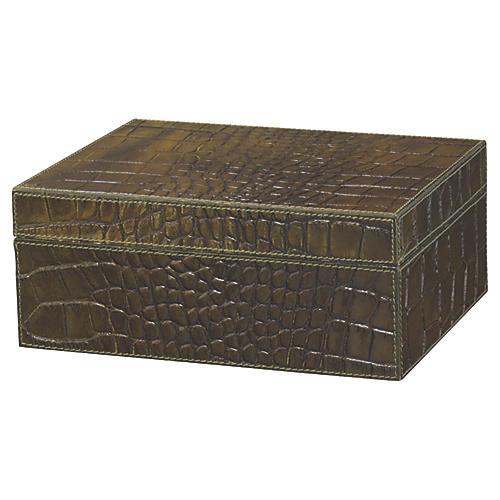 """10"""" Chadwick Box, Olive"""