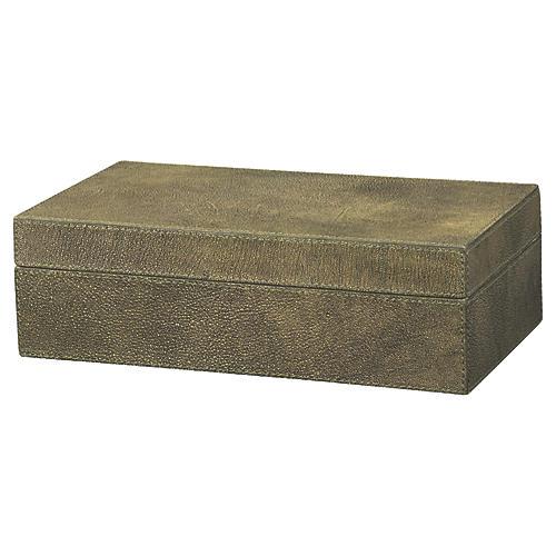 """12"""" Maxwell Box, Olive"""