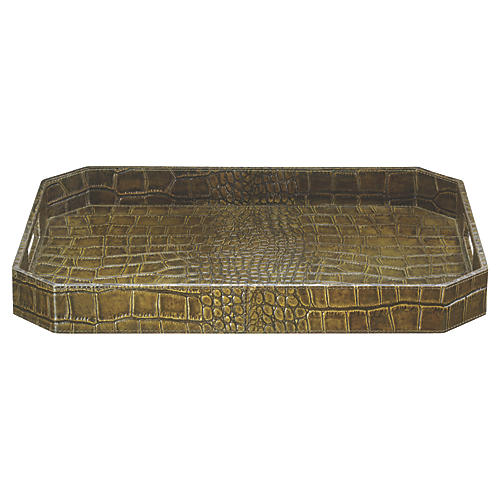 "18"" Octave Tray, Olive"