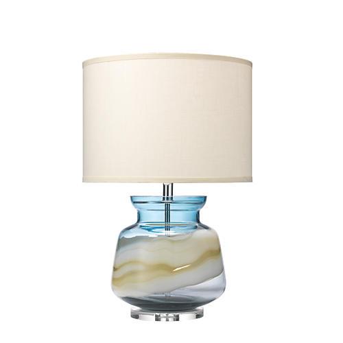 Ursula Table Lamp, Blue Swirl