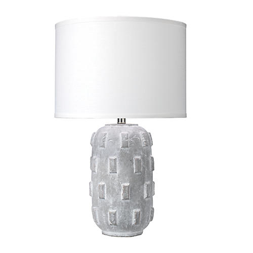 Boulder Table Lamp, Gray