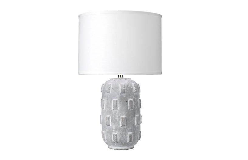 Boulder Table Lamp, Gray