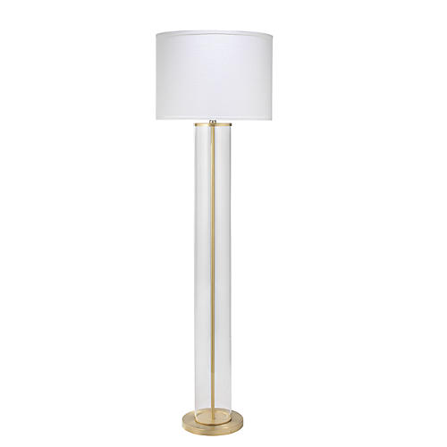 Vanderbilt Floor Lamp, Brass